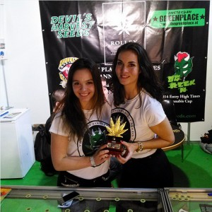 Devil's Harvest Seeds Spannabis 2015 sales team