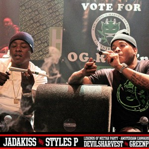 Styles P and Jadakiss smoking OG Reek'n on stage